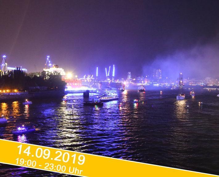 """Cruise Days 2019 """"Parade der Kreuzfahrtschiffe mit Feuerwerk"""""""